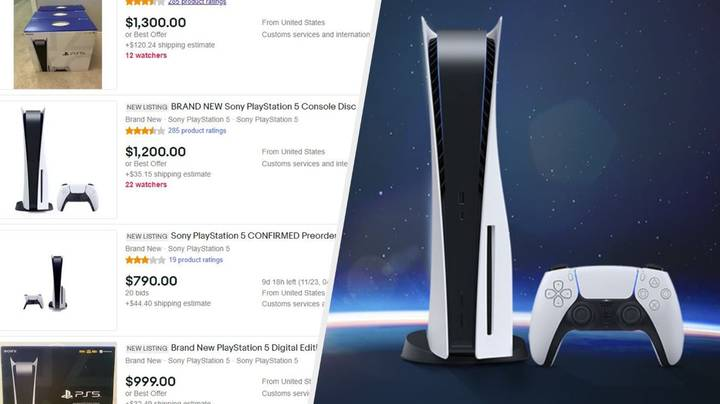 PlayStation 5 Consoles Already Being Sold On By Scalpers For Stupid Prices