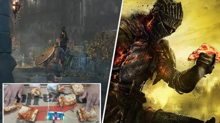 'Dark Souls' Player Beats Bosses Using Controller Made Of Pizza
