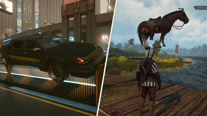 'Cyberpunk 2077' Cars Are Behaving Just Like The Witcher's Roach