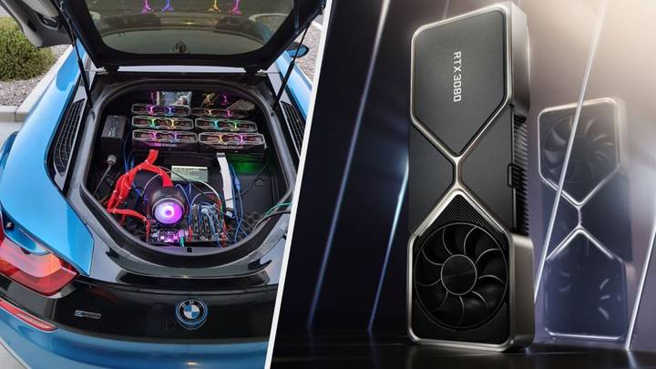 Guy Builds High-End PC In Back Of BMW Just To Annoy Gamers