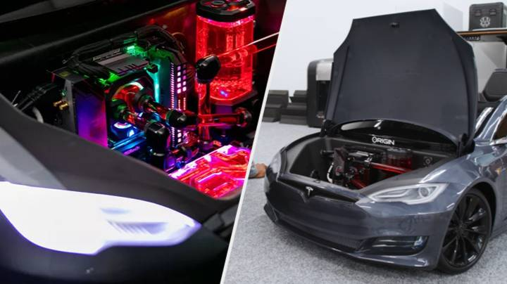 Awesome Gaming PC Built Into Toy Tesla Model, Costs Over £10k