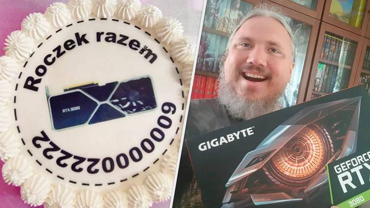 Gamer Celebrates One Year Waiting For RTX 3080 By Sending Retailer A Cake