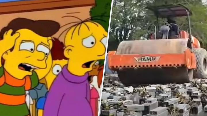 1,000 Illegal Bitcoin PCs Get Crushed By Steamroller In Bizarre Punishment