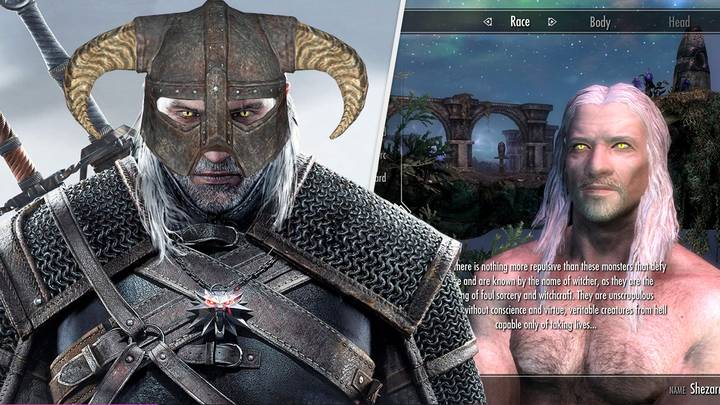 You Can Now Be A Witcher In 'Skyrim' With New Playable Race