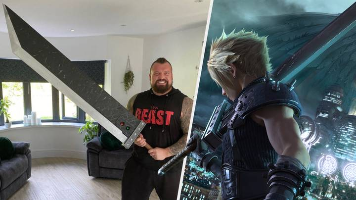 Eddie Hall Owns A Buster Sword Replica But It's Making Fans Nervous
