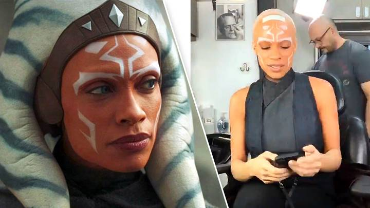 Rosario Dawson Shows The Full Ahsoka Tano Make-up Routine