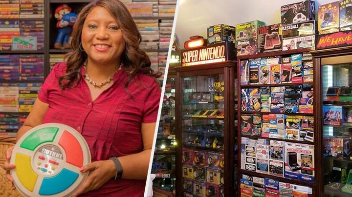 You Have To Watch The World Record Holder For Games Systems Show Off Her Collection