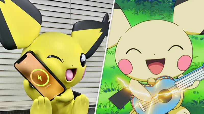 This Pichu Figurine Will Charge Your Phone With Its Cheek