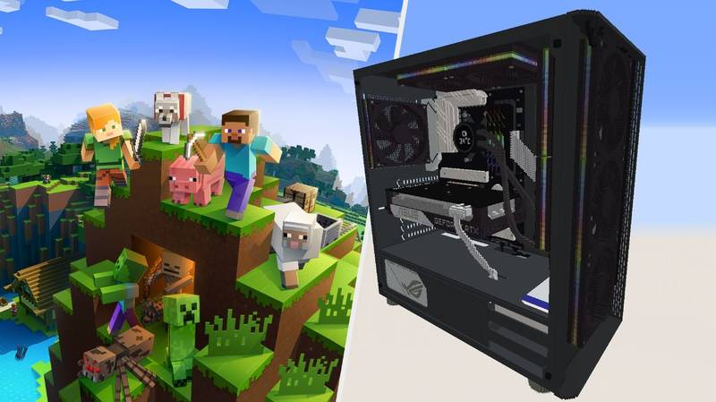 'Minecraft' Player Spends 45 Hours Building An RTX 3070 PC In-Game