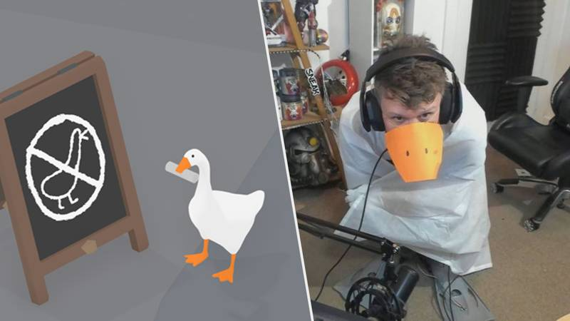 'Untitled Goose Game' Streamer Turns Himself Into A Human Goose Controller