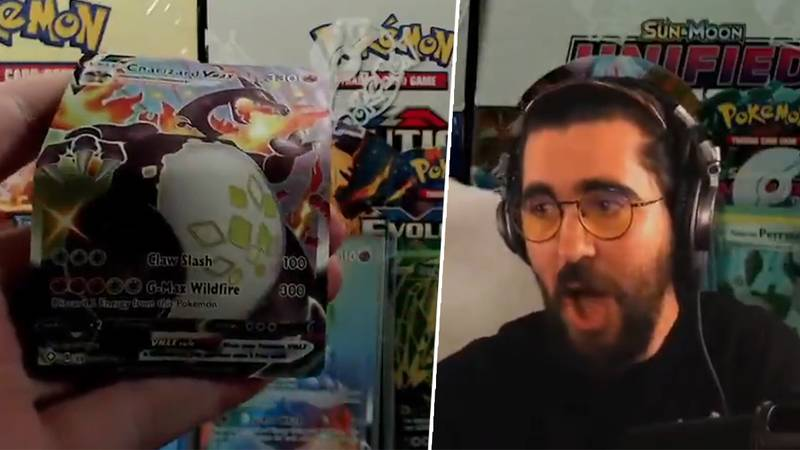 Streamer Destroys Pokémon Card Pack For Banter, Ends Up Wrecking Shiny Charizard