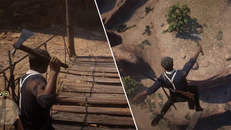 'Red Dead Online' Players Are Using A Bridge To Catapult Themselves Into Space
