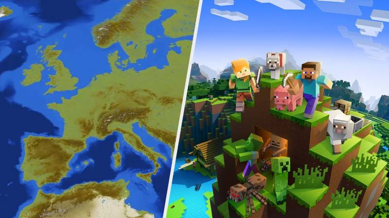 Someone Has Made All Of Europe In 'Minecraft'