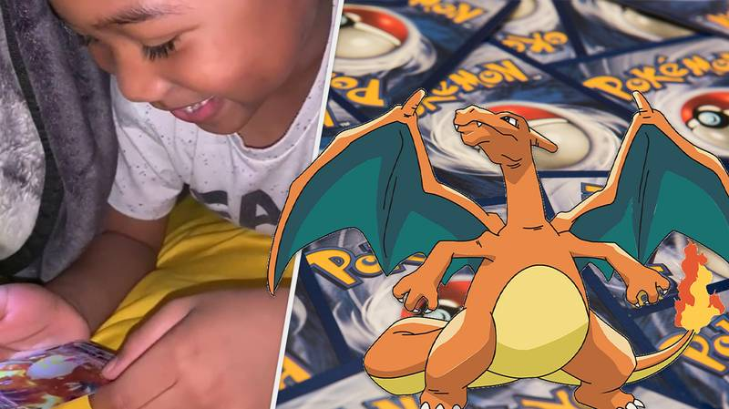 Young Pokémon Fan Opens His First Shiny Charizard And Screams With Delight