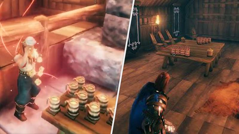 'Valheim' Players Have Started Playing Viking Beer Pong