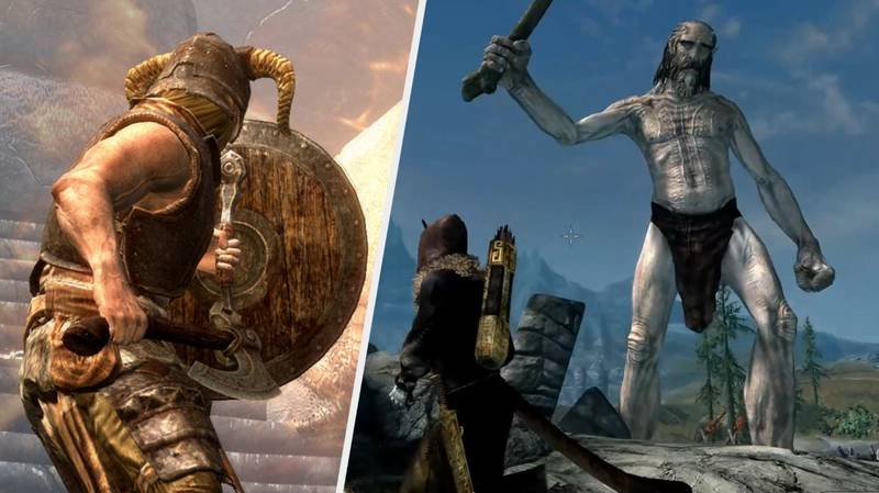 'Skyrim' Giants Are Now Five Times Bigger Thanks To Modders, And Oh God