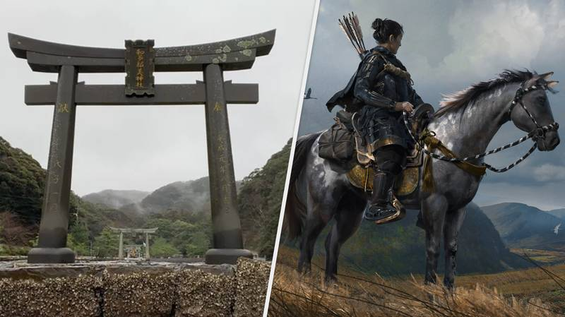 'Ghost Of Tsushima' Fans Head To Tsushima Island To Help Restore Damaged Torii Gate